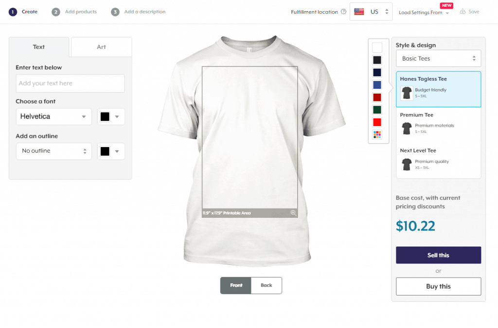 make money online start a tshirt business, design custom tshirts
